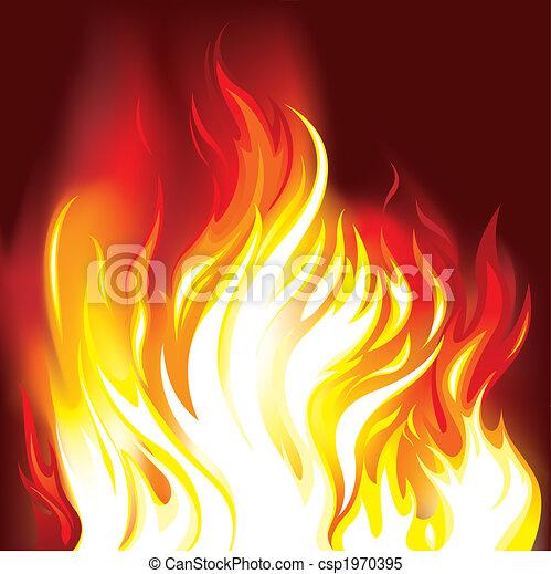 vuur, vlammen, achtergrond - csp1970395
