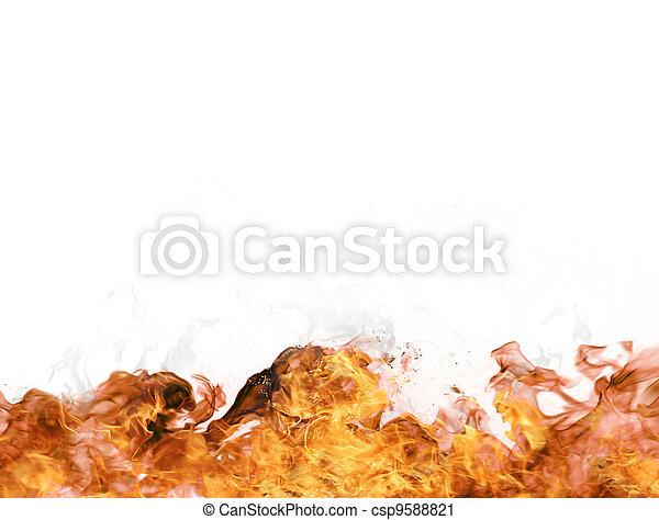 vuur, vlammen - csp9588821