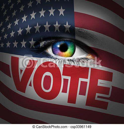 wähler, amerikanische , begriff - csp33961149