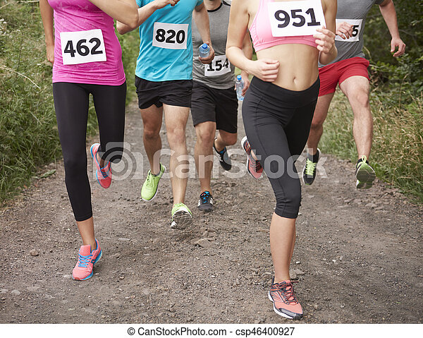während, beine, menschliche , marathon - csp46400927