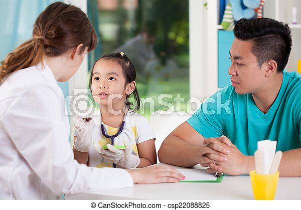 während, medizin, verabredung, asiatische familie - csp22088825