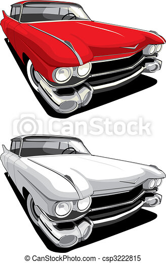 wóz, amerykanka, retro - csp3222815