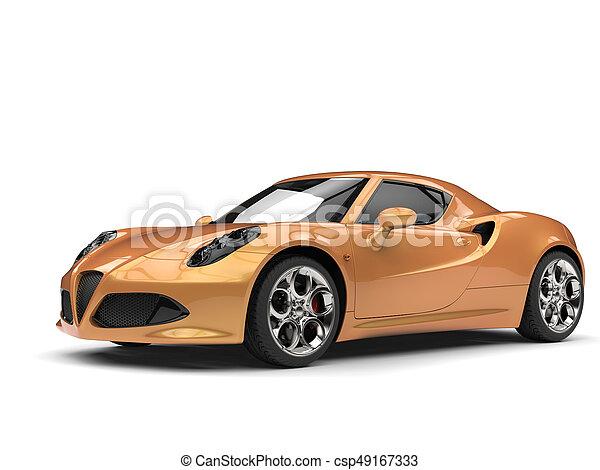 wóz, metaliczny, luksus, złoty, lekkoatletyka - csp49167333