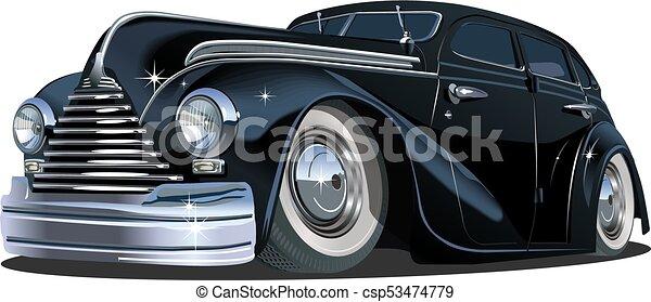 wóz, rysunek, retro - csp53474779