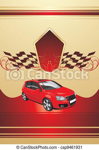 wóz, sport, czerwony - csp9461931