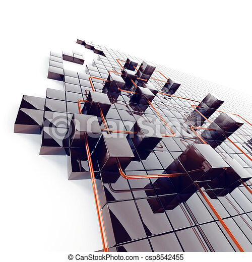 Würfel, abstrakt, metall, drähte, schwarzer hintergrund,... Stock ...