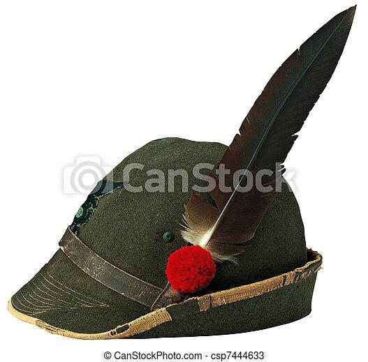 włoski, kapelusz, alpejski - csp7444633