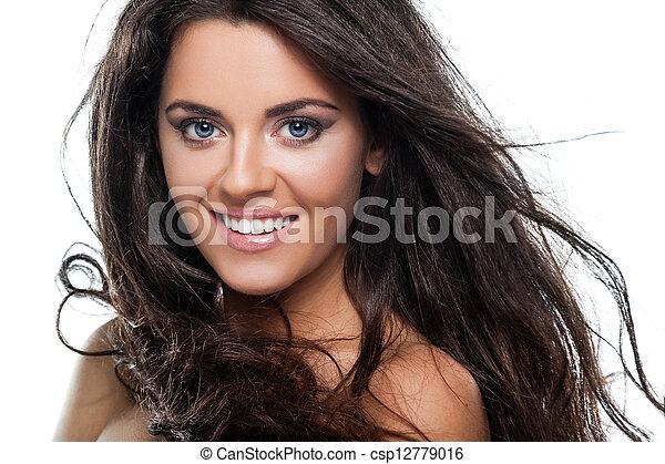 włosy, kędzierzawy - csp12779016