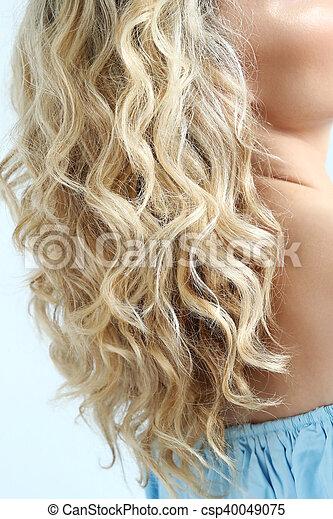 włosy, kędzierzawy - csp40049075