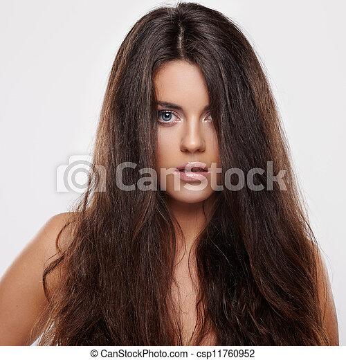 włosy, kędzierzawy - csp11760952