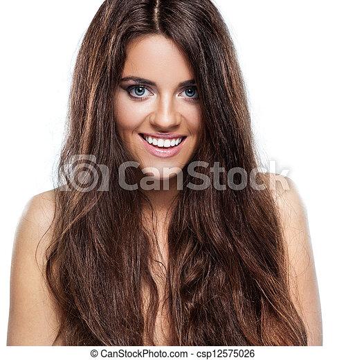 włosy, kędzierzawy - csp12575026