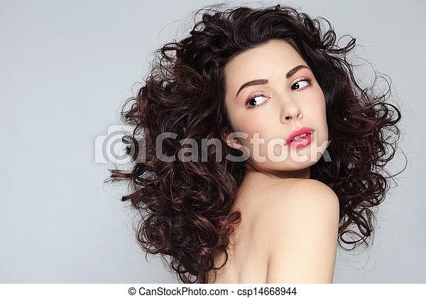 włosy, kędzierzawy - csp14668944