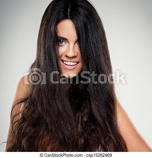 włosy, kędzierzawy - csp15262469