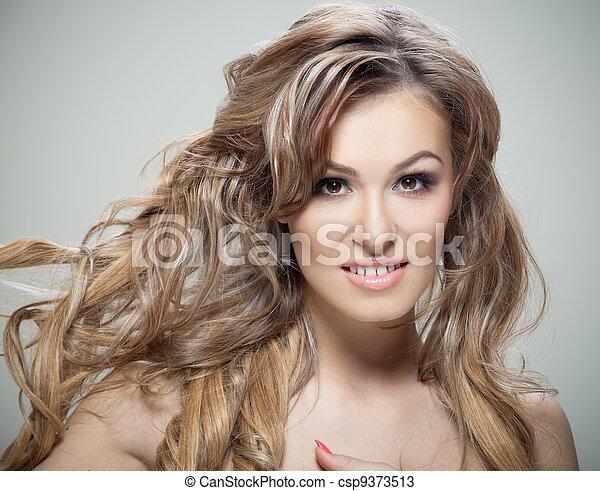 włosy, kędzierzawy - csp9373513