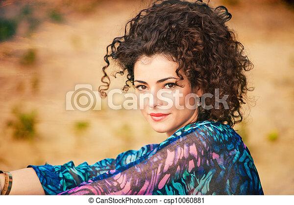 włosy, kobieta, kędzierzawy - csp10060881