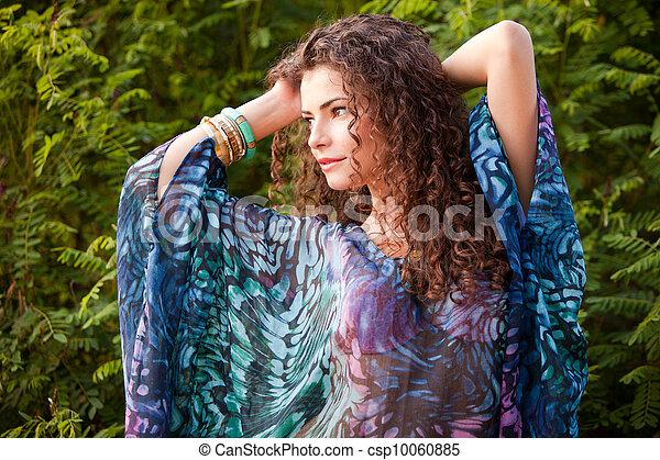 włosy, kobieta, kędzierzawy - csp10060885