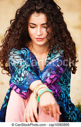 włosy, kobieta, kędzierzawy - csp10060895