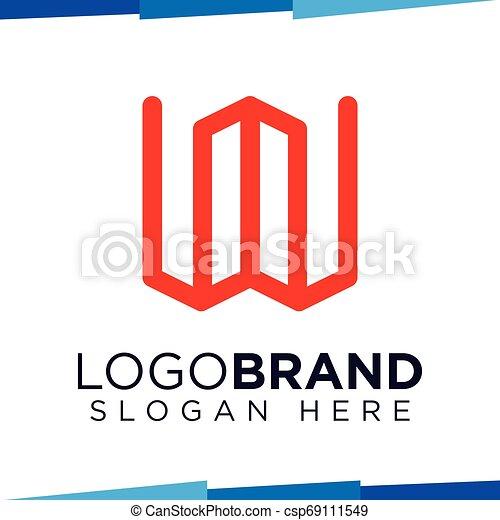 W Letter Build logo vector template - csp69111549