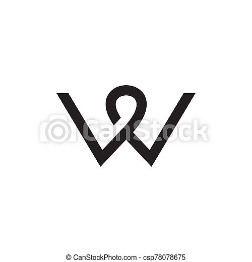 W letter initial icon logo design vector template - csp78078675