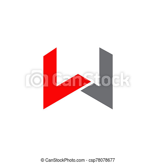 W letter initial icon logo design vector template - csp78078677