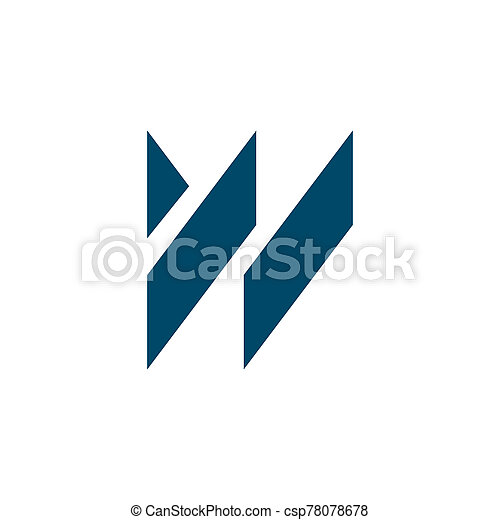 W letter initial icon logo design vector template - csp78078678