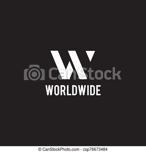 W letter initial icon logo design vector template - csp76673484