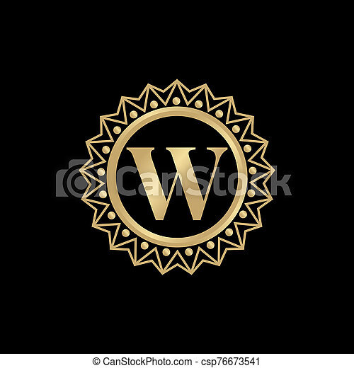 W letter initial icon logo design vector template - csp76673541