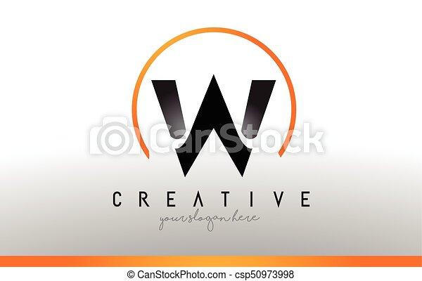 Cool Letter I Logo.W Letter Logo Design With Black Orange Color Cool Modern Icon Template