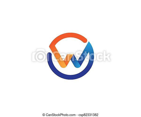 W letter logo vector icon - csp82331382