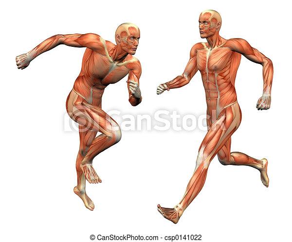 El hombre del músculo cortando máscaras - csp0141022