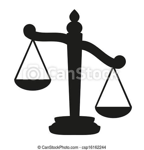 Waage der Gerechtigkeit - csp16162244