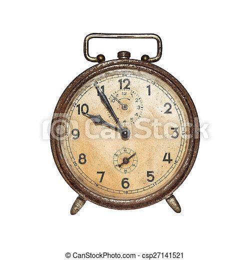 waarschuwing, retro, clock. - csp27141521