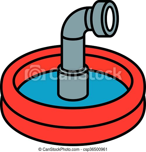 wading pool with periscope circular red wading pool with clip rh canstockphoto com clip art pool party clip art pool stick