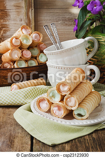 wafer rolls with cream - csp23123930