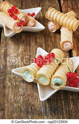 wafer rolls with cream - csp23123934