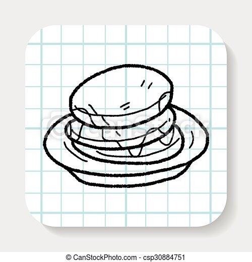 waffle doodle - csp30884751