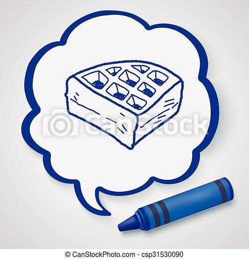 waffle doodle - csp31530090