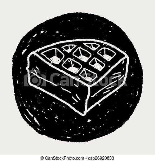 waffle doodle - csp26920833