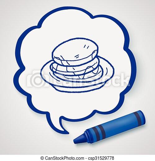waffle doodle - csp31529778