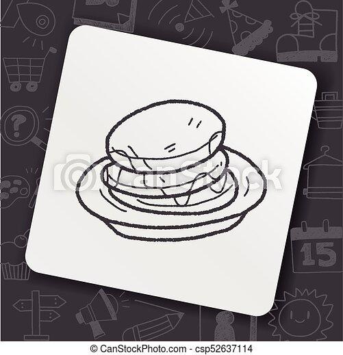 waffle doodle - csp52637114