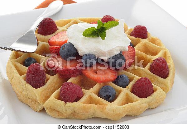 Waffle with Fruit - csp1152003