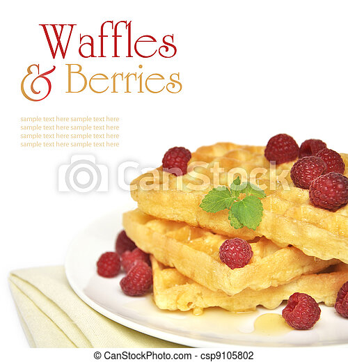 Waffles and raspberry - csp9105802