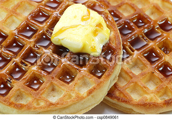 Waffles and Syrup - csp0849061