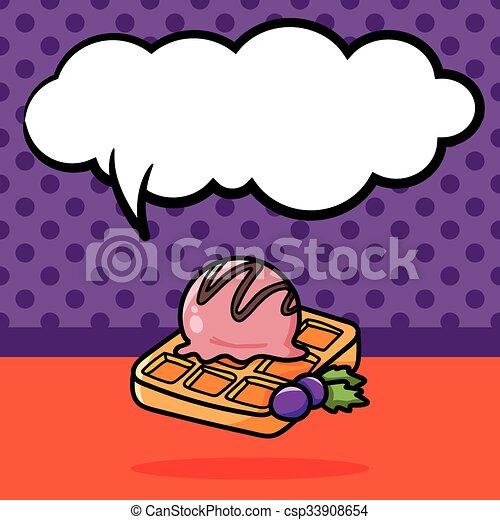Waffles doodle - csp33908654
