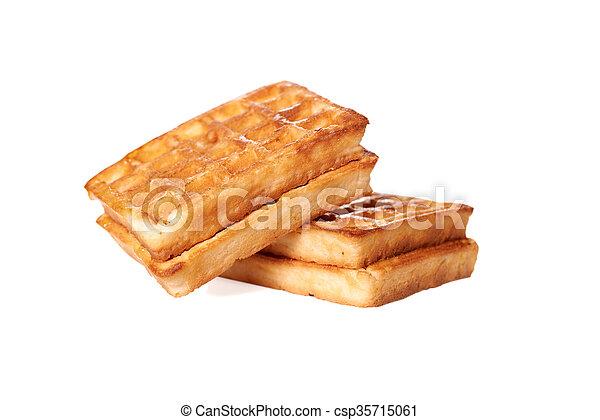 waffles isolated on white background - csp35715061