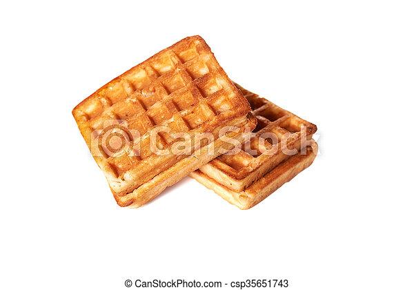 waffles isolated on white background - csp35651743
