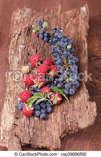 Waffles with fresh berry fruit - csp39686892