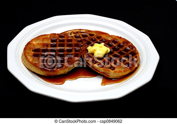 Waffles with Syrup - csp0849062