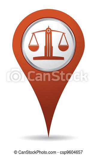 waga, rozmieszczenie, prawnik, ikona - csp9604657