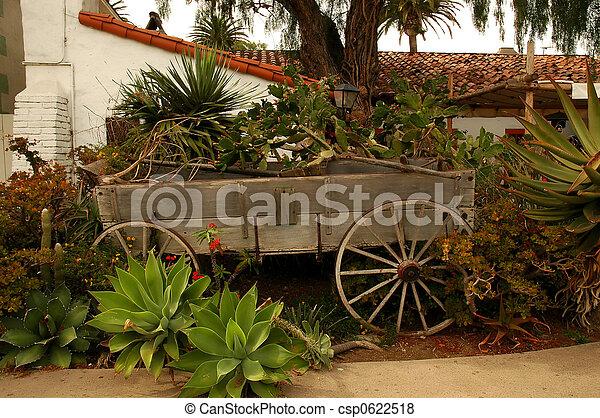 Stock Photo   Wagon Planter